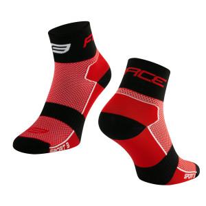 Čarape FORCE SPORT 3, crveno-crne S-M/36-41