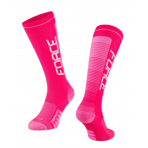 Čarape FORCE COMPRESS,roze S-M / 36-41