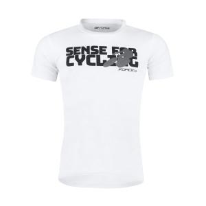 Majica FORCE SENSE kratki rukav, bela XL.