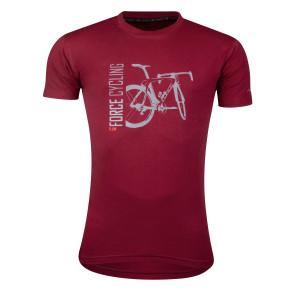 Majica FORCE FLOW kratki rukav, crvena XL.