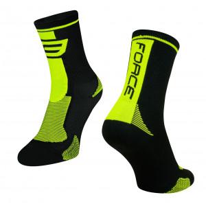 Čarape F LONG, crno -fluo XXL/48-49